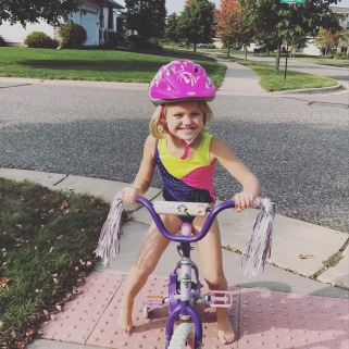 What can I say, the girl loves wearing her leo...even while biking!